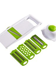 cheap -5 in 1 Multi-function Plastic Vegetable Fruit Slicers Cutter Stainless Steel Blades ABS Peeler Grater Slicer