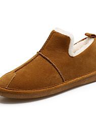 abordables -Femme Chaussures Daim Automne Hiver Confort Mocassins et Chaussons+D6148 Talon Bas Bout rond Bottine / Demi Botte pour Bureau et carrière