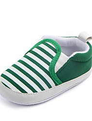 cheap -Boys' Shoes Fabric Spring / Fall Comfort / First Walkers / Crib Shoes Flats Gore for Dark Blue / Green / Khaki / Striped