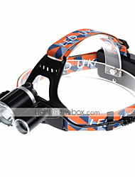 cheap -U'King Headlamps Headlight LED 3000 lm 4 Mode Cree XP-G R5 Cree XM-L T6 with Chargers Compact Size Easy Carrying Camping/Hiking/Caving
