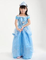 abordables -Princesse Cinderella Conte de Fée Robes Costume de Soirée Enfant Noël Mascarade Fête / Célébration Déguisement d'Halloween Rouge Bleu