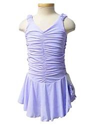economico -Vestito da pattinaggio artistico Per donna Da ragazza Pattinaggio sul ghiaccio Vestiti Lilla Elastene Anelastico Prestazioni Esercitazione