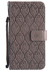 cheap -Case For Samsung Galaxy A5(2017) A3(2017) Card Holder Wallet with Stand Flip Pattern Full Body Solid Color Lace Printing Hard PU Leather
