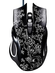 economico -chasing Panther 169 gioco d'interfaccia usb cablato mouse 6 dpi regolabile a pulsante