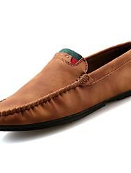 Masculino sapatos Pele Primavera Outono Mocassim Mocassins e Slip-Ons para Casual Cinzento Marron Khaki