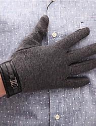 abordables -Homme Travail Longueur Poignet Bouts des doigts Gants - Couleur Pleine