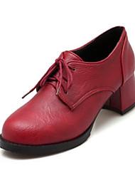 Недорогие -Жен. Обувь Полиуретан Весна Осень Удобная обувь Оригинальная обувь Армейские ботинки Ботинки На низком каблуке Круглый носок для Для