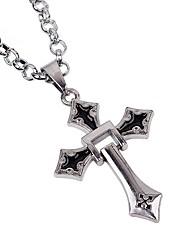 Недорогие -Муж. Ожерелья с подвесками Ожерелья-цепочки - Сплав На каждый день Мода Готика Крест Ожерелье Назначение Halloween Повседневные