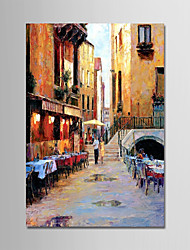 cheap -Hand-Painted Landscape Vertical,Modern Canvas Oil Painting Home Decoration One Panel