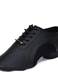 """cheap -Women's Jazz Cowhide Tulle Split Sole Sneaker Outdoor Low Heel Black 1"""" - 1 3/4"""""""