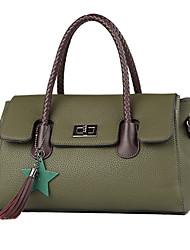 cheap -Women Bags PU Tote Appliques Zipper for Wedding Formal All Season Brown Gray Red Black Green