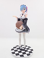 cheap -Anime Action Figures Inspired by Re:Zero Starting Life in Another World Rem PVC CM Model Toys Doll Toy Unisex