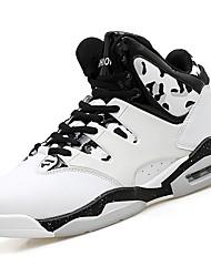 abordables -Femme Chaussures Gomme Automne / Hiver Confort Chaussures d'Athlétisme Basketball Talon Plat Bout rond Bottine / Demi Botte Ruban Blanc /
