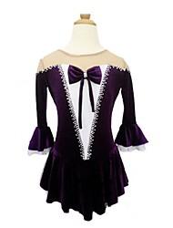 abordables -Robe de Patinage Artistique Femme / Fille Patinage Robes Violet Spandex, Dentelle Non Elastique Utilisation / Exercice Tenue de Patinage