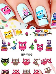 cheap -1pcs Nail Sticker Nail Stamping Template Daily Animal Design Nail Decals Fashion High Quality