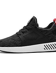 economico -Per uomo Scarpe Maglia traspirante Primavera Autunno Comoda Sneakers per Casual All'aperto Nero Grigio Rosso