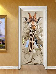 abordables -Paysage Animaux Stickers muraux Autocollants muraux 3D Autocollants muraux décoratifs, Vinyle Décoration d'intérieur Calque Mural Mur