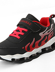 cheap -Boys' Shoes Leatherette Winter Spring Comfort Athletic Shoes Running Shoes Lace-up for Athletic Casual Blue Red Black