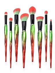 preiswerte -8 Stücke Bürsten-Satz- Rouge Pinsel Lidschatten Pinsel Lippenpinsel Puderpinsel Grundlagen Pinsel Pony Bürste Künstliches Haar