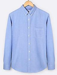 cheap -Men's Daily Work Casual Punk & Gothic All Seasons Shirt,Solid Shirt Collar Long Sleeve Cotton Linen