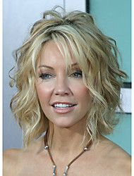 cheap -Synthetic Wig Curly Layered Haircut Highlighted/Balayage Hair Blonde Women's Capless Celebrity Wig Natural Wigs Costume Wig Medium