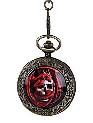 Недорогие -Для пары Кварцевый Карманные часы Часы со скелетом Китайский С гравировкой Череп Повседневные часы сплав Группа Винтаж На каждый день