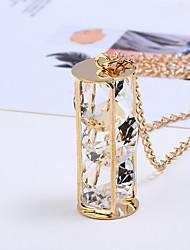 Недорогие -Жен. Синтетический алмаз Ожерелья с подвесками / Ожерелья-цепочки - Мода Золотой, Черный Ожерелье Назначение Повседневные, Официальные