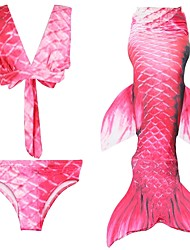 cheap -The Little Mermaid Skirt Kid Halloween Festival / Holiday Halloween Costumes Pink Red Fuschia Mermaid