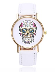 cheap -Women's Unique Creative Watch Casual Watch Chinese Quartz Skull Casual Watch PU Band Casual Skull Black White Blue Red Orange Brown Green
