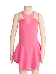 abordables -Robe de Patinage Artistique Femme Fille Patinage Robes Blanc Rose Violet Spandex Non Elastique Utilisation Exercice Tenue de Patinage