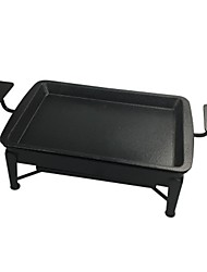 economico -Piastra barbecue da campeggio Fornello da campeggio Attrezzi cucina all'aperto Indossabile Acciaio inossidabile Metallo per Campeggio