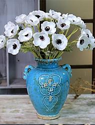 abordables -5 Une succursale Polyuréthane Roses Fleur de Table Fleurs artificielles