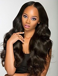 cheap -Brazilian Virgin Human Hair Lace Front Wigs With Baby Hair Natural Color Big Body Wave Glueless Lace Wigs For Black Women