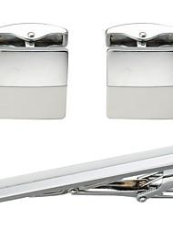 baratos -Formato de Linha Branco Botões de Punho / Prendedores de gravatas Cobre Simples / Casual Homens Jóias de fantasia Para Diário / Formal