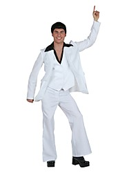 cheap -Elvis 1950s Costume Men's Outfits Costume White Vintage Cosplay Linen/Cotton Blend Long Sleeves Lolita Briefs