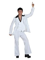 billige -Elvis 1950'erne Kostume Herre Dragter Kostume Hvid Vintage Cosplay Hør/Bomulds Blanding Langærmet Lolita Underbukser