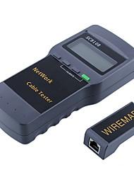 abordables -medidor de probador de red inalámbrica portátil lcd&probador del cable del teléfono lan&medidor con pantalla lcd rj45