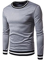 Herrer Afslappet/Hverdag I-byen-tøj Sweatshirt Trykt mønster Rund hals Polyester Mikroelastisk Langærmet Vinter Efterår