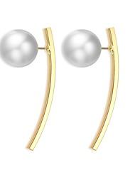 economico -Per donna Orecchini a bottone Perle finte Classico Vintage Di tendenza Perle finte Lega Circolare Di forma geometrica Gioielli Quotidiano