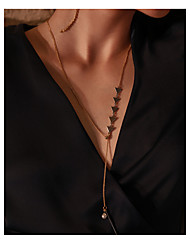 cheap -Women's Long Pendant Necklace - Korean, Fashion Gold Necklace One-piece Suit For Club, Bar