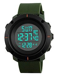 Недорогие -SKMEI Муж. Спортивные часы Японский Календарь / Защита от влаги / С двумя часовыми поясами PU Группа Роскошь / На каждый день / Мода Черный / Зеленый / Серый / Фосфоресцирующий