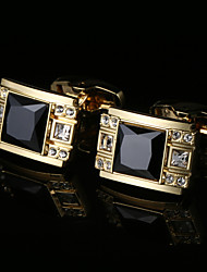 cheap -Geometric Golden Cufflinks Zircon / Copper / Alloy Metallic / Classic / Fashion Men's Costume Jewelry For Wedding / Party / Gift