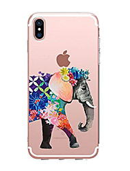 billige -Til iPhone X iPhone 8 Etuier Transparent Mønster Bagcover Etui Elefant Blødt TPU for Apple iPhone X iPhone 8 Plus iPhone 8 iPhone 7 Plus