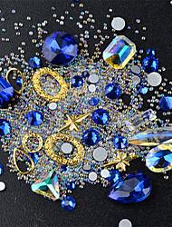 abordables -joyería de uñas glam color clasificado nail art design