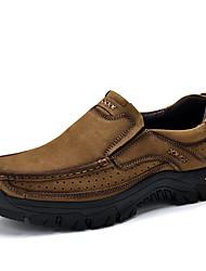 abordables -Homme Chaussures Cuir Similicuir Printemps Automne Confort Mocassins et Chaussons+D6148 pour Décontracté Kaki Vert foncé