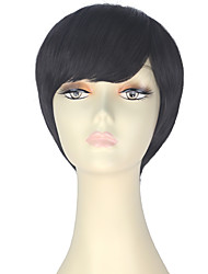 cheap -Synthetic Hair Wigs Straight Capless Carnival Wig Halloween Wig Party Wig Lolita Wig Natural Wigs Cosplay Wig Short Brown
