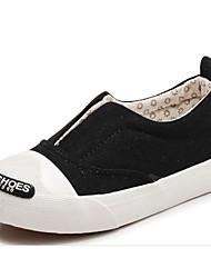 preiswerte -Mädchen Schuhe Leinwand Winter Herbst Komfort Sneakers Walking Spitze für Normal Weiß Schwarz Rot Rosa