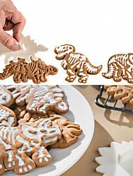 abordables -Couteaux à gâteaux Dinosaure Pour Bonbons Pour Cookie Pour Gâteau Petit gâteau ABS A Faire Soi-Même Anniversaire Créatif 3D Ustensile de
