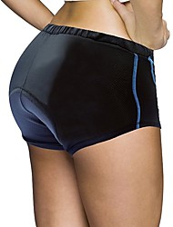 cheap -ILPALADINO Women's Cycling Under Shorts Bike Padded Shorts / Chamois 3D Pad, Quick Dry, Anatomic Design Solid Colored Spandex, Lycra Bule