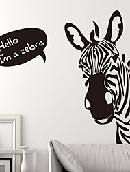 cheap -Young Black and White Zebra Room Bedroom Decor Wallpaper Self-adhesive Stickers